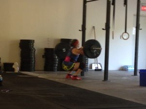 Coach Dawn hitting some heavy front squats on her birthday. Happy birthday Dawn!